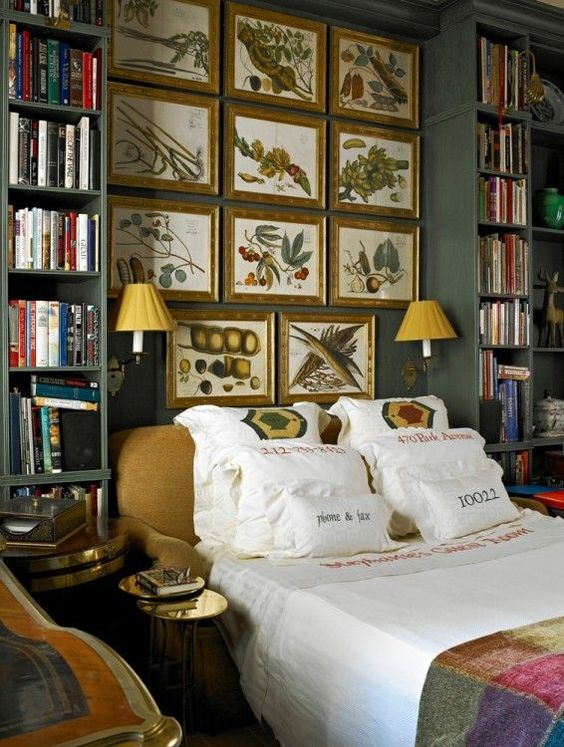 Eye for design bedroom libraries for book lovers for Bedroom ideas for book lovers