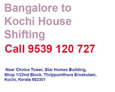 Bangalore to Kochi House Shifting