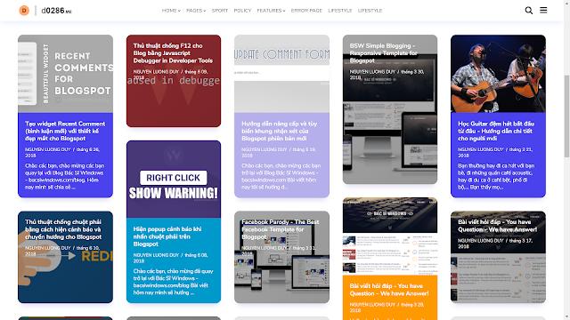 Chia sẻ theme Nemesis cho Blogger   Đã chỉnh sửa
