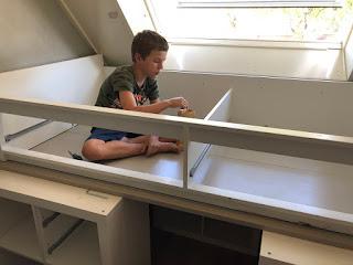 Renske Creatief Halfhoogslaper Gebouwd Van Ikea Kallax