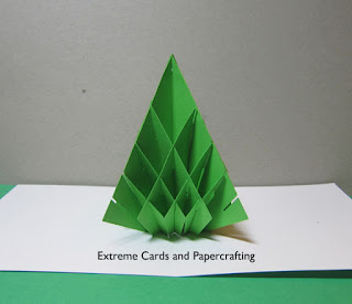 Sliceform pop up card Christmas tree
