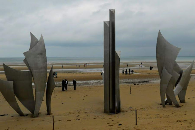 Paris to Normandy Road trip: Sculpture on Omaha Beach