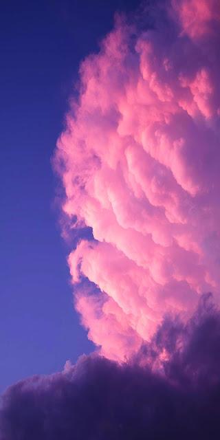 Phone wallpaper pink clouds