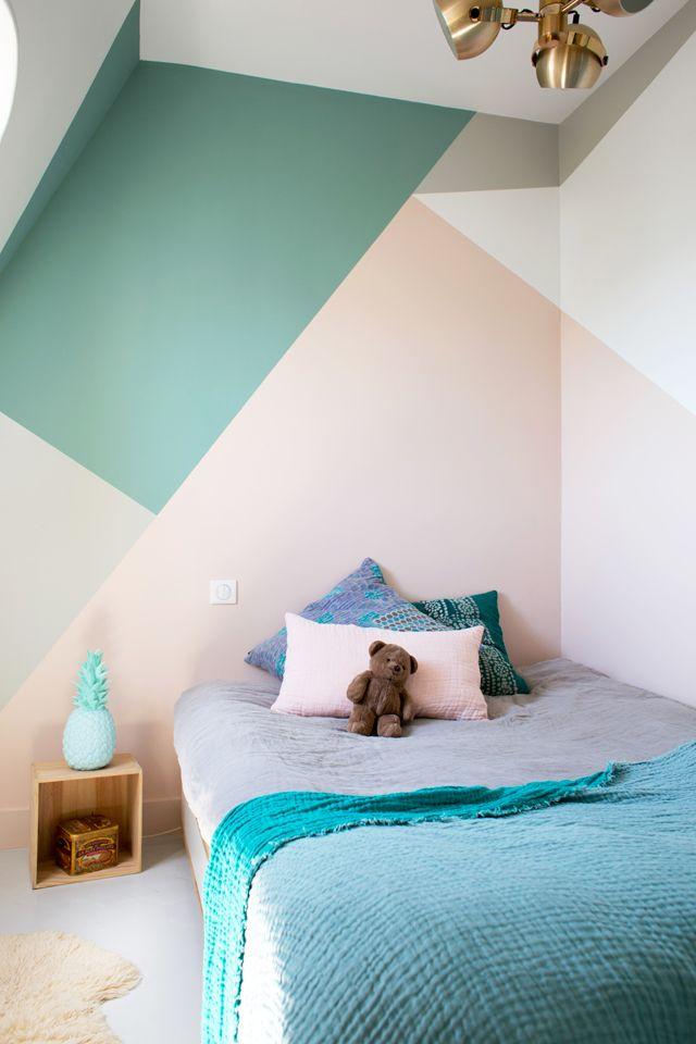 pintar la habitación de los niños con formas