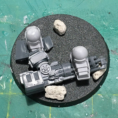 Dark Angels Legion Contemptor Dreadnought WIP - custom base