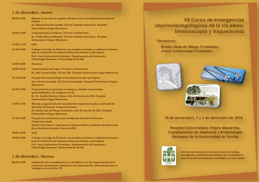 UGC-ORL HUVM: VII CURSO DE EMERGENCIAS ORL DE LA VIA AEREA ...