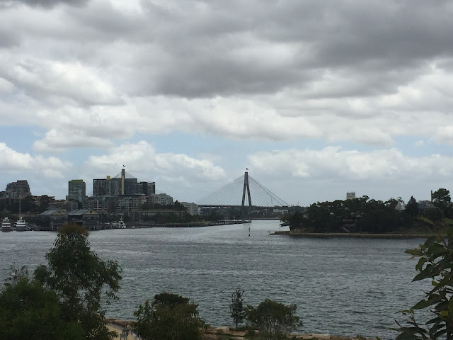 View over Anzac Bridge