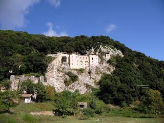 El monasterio, a un tiro de piedra de Greccio