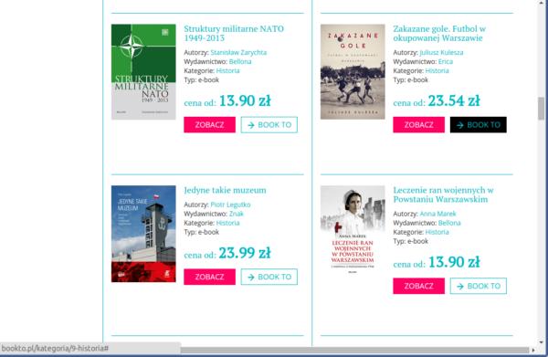 Bookto.pl - wyniki wyszukiwania