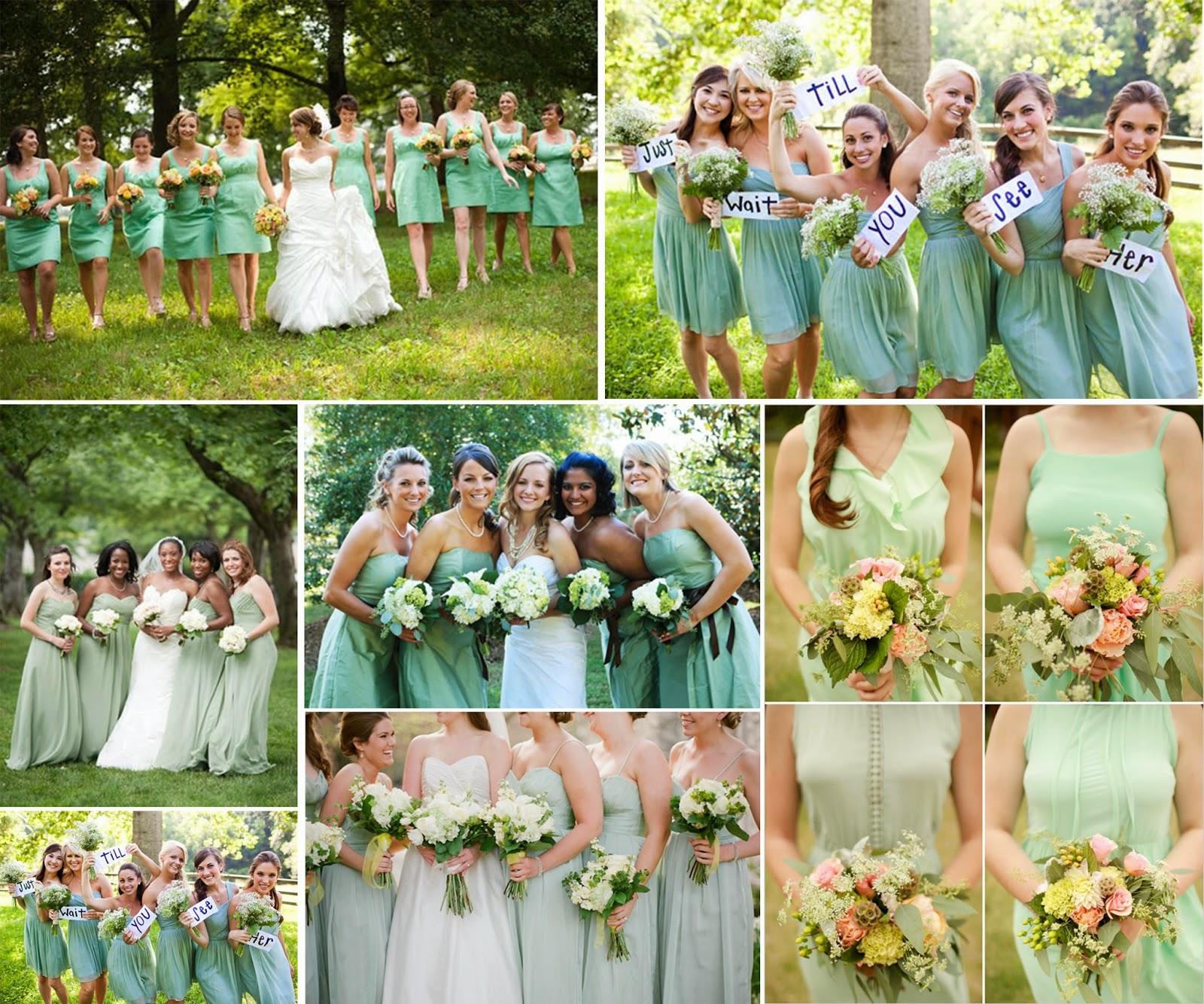 Beautiful Wedding Dress with Mint Green – Wedding