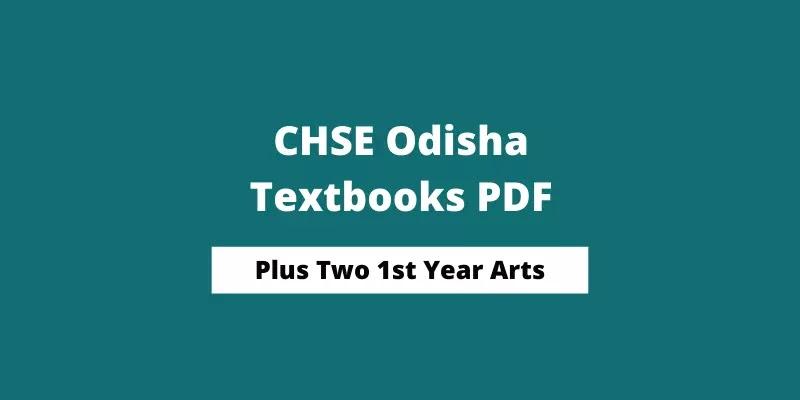 CHSE Odisha Plus Two 1st Year Economics Book PDF   +2 Arts Books 2021