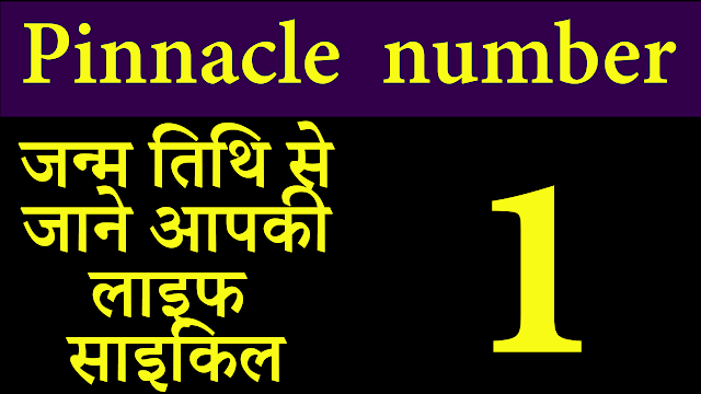 Pinnacle number 1 | numerology | hindi | Numerology meaning of the Pinnacle cycles
