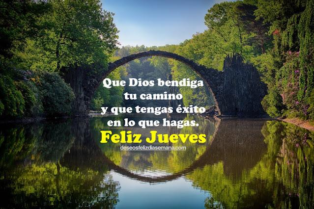 imagen con frases de bendiciones para este día feliz jueves