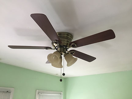 Jason\'s View from DC: Finally a Ceiling Fan on the Ceiling