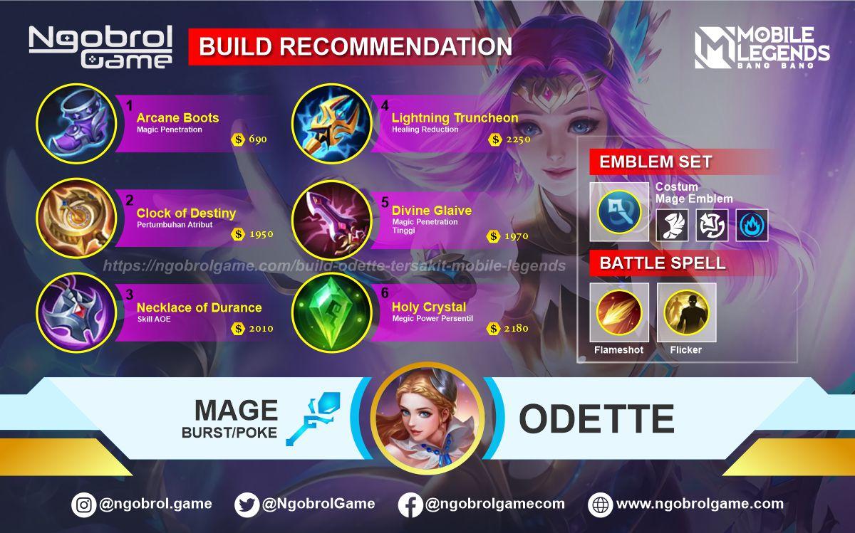 Build Odette Savage Mobile Legends