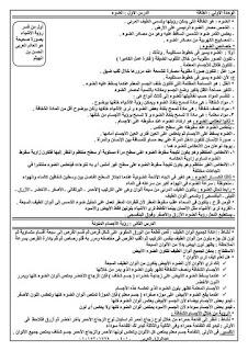 مذكرة الشرح والامتحانات في العلوم للصف الخامس الابتدائي الترم الاول للاستاذ عبد الرازق العربي