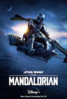 Mandalorian on a speeder bike