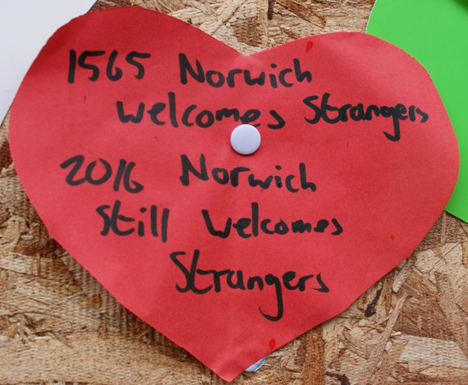 When an immigrant's store became the target of a xenophobic attack, the people of Norwich stood up for the victim