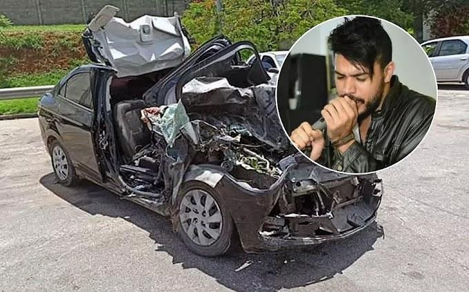 Cantor sertanejo morre em batida de carro contra caminhão em SP