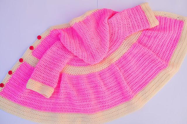 Crochet Imagen Abrigo para canesú a crochet y ganchillo por Majovel Crochet