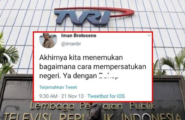 GEGER! Dirut Baru TVRI, Eks Kontributor P1ayboy, Warganet 'Bongkar' Jejak Twit-Twit Lamanya