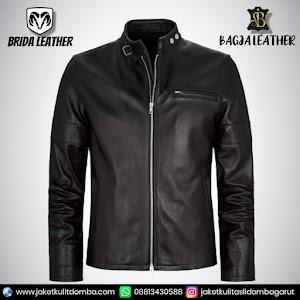 Jual Jaket Kulit Asli Garut Pria Domba Original Brida Leather B27   WA 08813430588