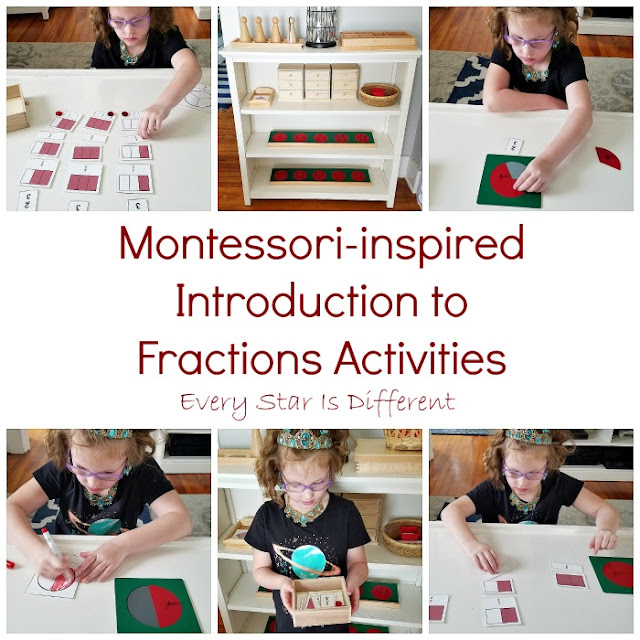 Montessori-inspired Introduction to Fractions Activities