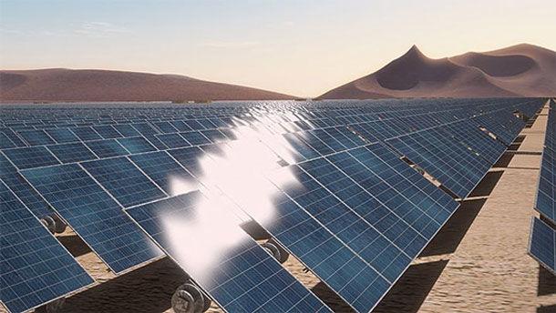 Atacama Desert, solar energy panels.