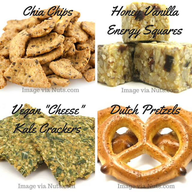 Selection of Healthy Snacks from Nuts