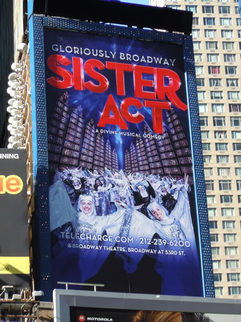 Sister Act Broadway billboard
