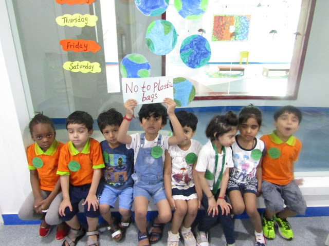 TINY TOTS OBSERVED EARTH WEEK