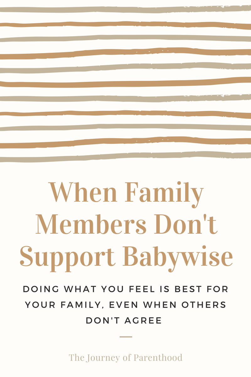 When Family Doesn't Support Babywise