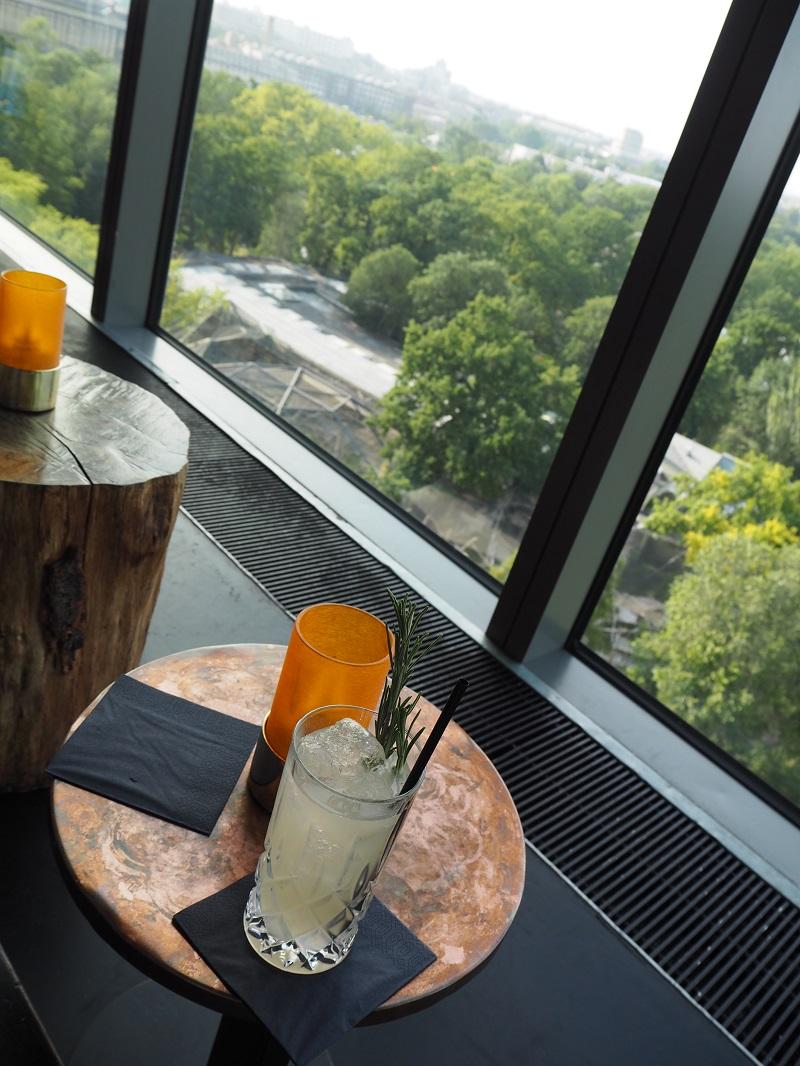 Rafiki cocktail overlooking Berlin Zoo from the Monkey Bar