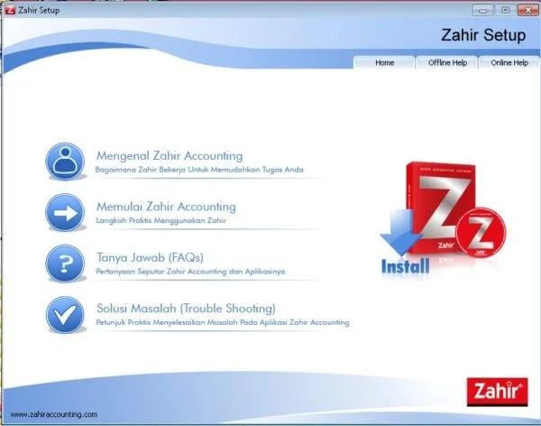 Cara Instal Zahir Accounting Terbaru