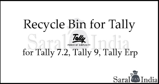Recycle bin for Tally