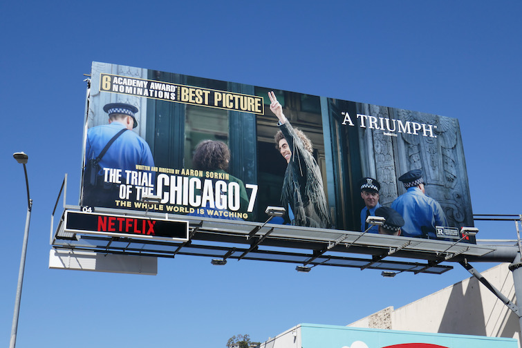 Trial of the Chicago 7 Oscar nominee billboard