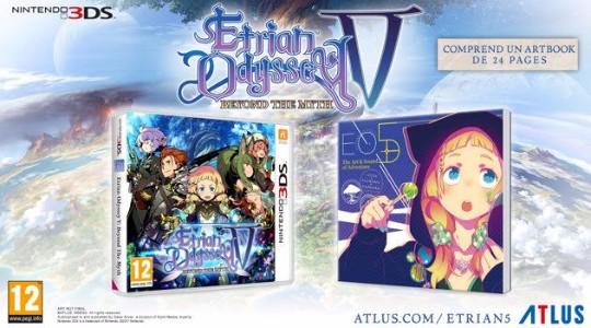 Actu Jeux Vidéo, Atlus, Etrian Odyssey V, J-RPG, Nintendo 3DS, Trailer, Jeux Vidéo,