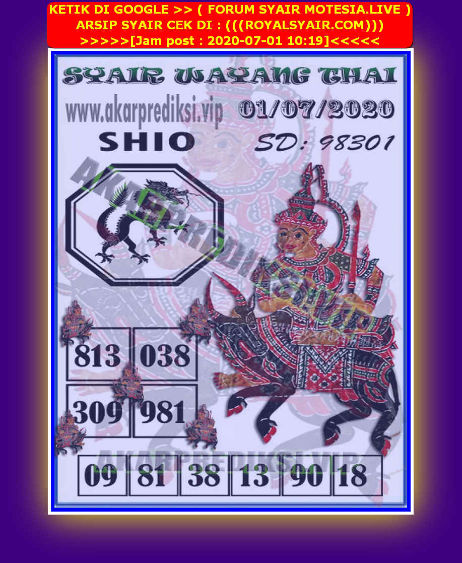 Kode syair Sydney Rabu 1 Juli 2020 196