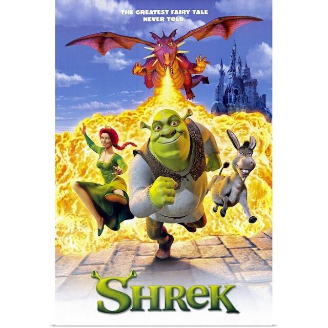 Cartel de la película Shreck del año 2001