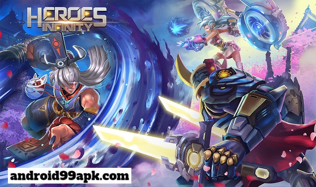 لعبة الاكشن Heroes Infinity v1.29.3L مهكرة كاملة بحجم 201 MB للاندرويد