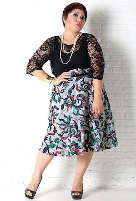 model baju batik wanita gemuk modern