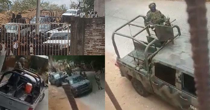 """Ejército, Marina y FGE """"revientan"""" la Normal de Arteaga en Michoacán para recuperar los vehiculos ROBADOS por los """"estudiantes"""""""
