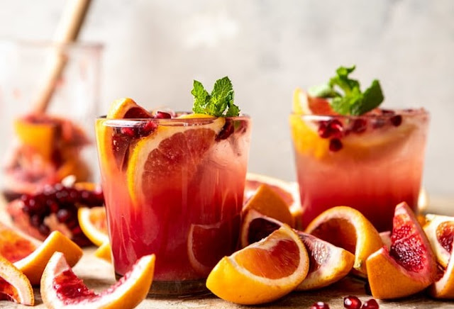Winter Citrus Tequila Smash #drink #cocktails
