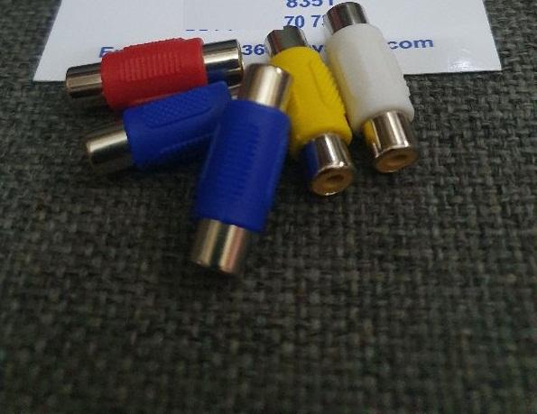 5 Jack nối dây AV xanh đỏ vàng trắng