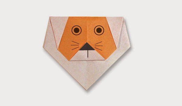 Origami Tutorials - How to make a paper Lion's face