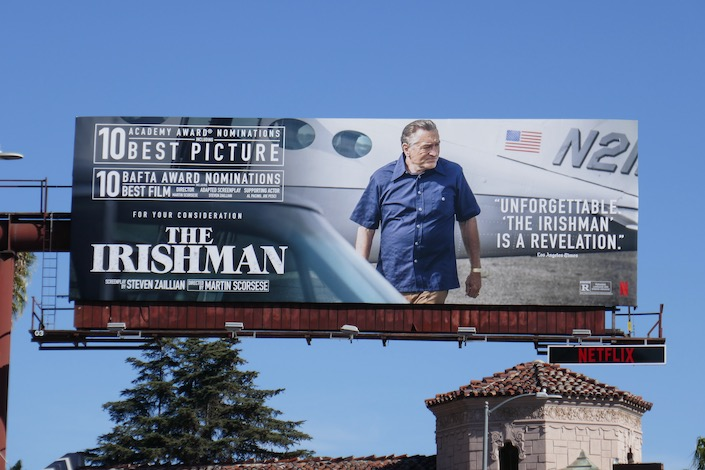 Irishman 10 Oscar BAFTA nominations billboard