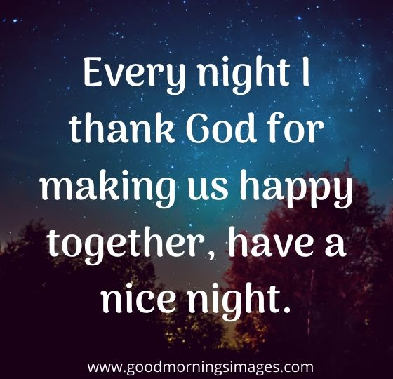 have a good night reply