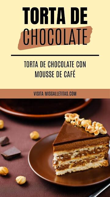 Torta de chocolate con mousse de café sin azúcar para diabéticos