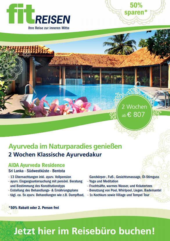 Ayurveda Kur Sri Lanka in AIDA Ayurveda Residence Bentota