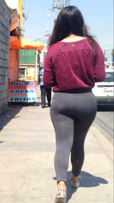 Video mujeres linda cola leggins entallados